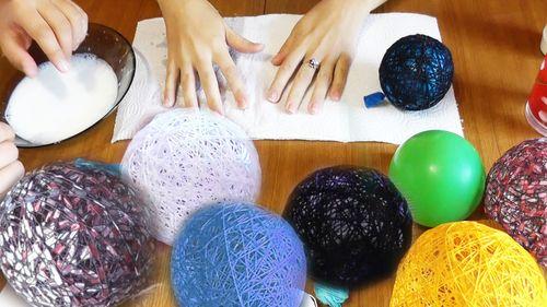 Процесс создания шаров
