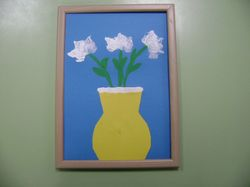Ваза с цветами - рисунок