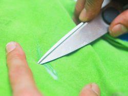 Удаление клея ножом