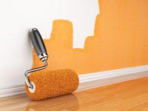 Водоэмульсионная краска на стене
